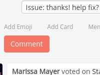 [Image: If pop in the card the issue: thanks! help fix? dropdown is displayed]