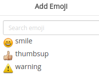 [Image: Alignment is broken for Add Emoji and Mention a member option]