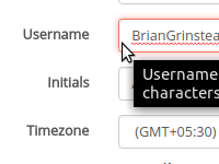 [Image: Username edit option is available]
